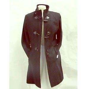 Nautica wool coat, detachable hood-Sz. Small